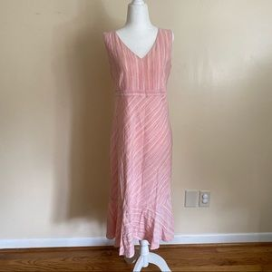 Pink Striped Ann Taylor Loft Dress